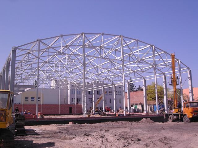 Rewelacyjny Konstrukcje stalowe hali, łukowe, wiaty | DOM-GAZ Hale stalowe WH41